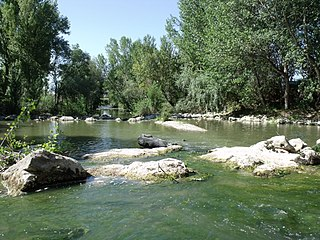 Chiascio river in Italy