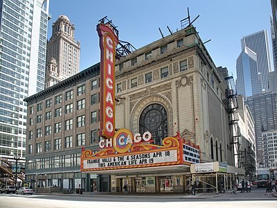 Chicago theater in downtown Chicago, USA