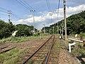 Chikuhi Line on east side of Dainyu Station.jpg