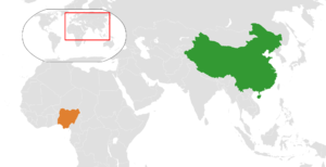 China–Nigeria relations - Image: China Nigeria Locator