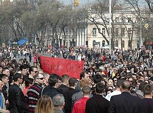 Vlad Filat - Image: Chisinau riot 2009 04 07 18