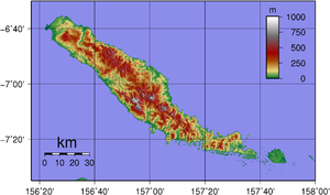 Choiseul Island - Topographic map of Choiseul