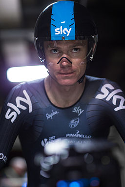 Chris Froome in the Eurotunnel