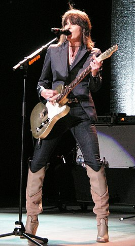 Chrissie Hynde tijdens concert in Santa Barbara, California (2007)