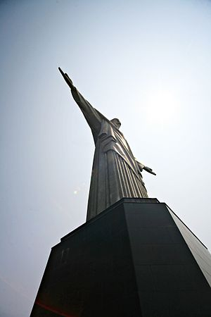 Christ the Redeemer at Corcovado mountain.