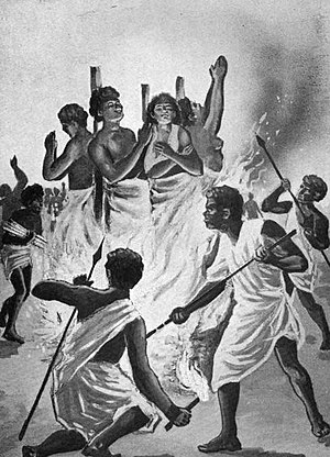 Martyr - Christian martyrs burned at the stake by Ranavalona I in Madagascar