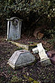 Church of St Mary Theydon Bois Essex England - churchyard broken cross.jpg