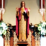 Church of the Sacred Heart (Coshocton, Ohio) - Sacred Heart of Jesus statue.JPG
