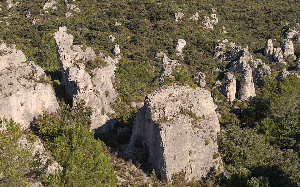 "The ""Cirque de Mourèze"" is a steephead of whitch the chaotic appearance was made by the erosion of dolomite rocks. Mourèze, Hérault, France."
