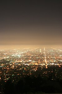 City Lights at Night, Los Feliz, Los Angeles