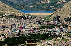 Dohuk - View on Duhok with the Duhok Dam in the background