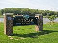 City sign, Lucas, Lucas County, Iowa.jpg