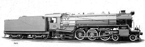 South African Class 16DA 4-6-2 1930 - Image: Class 16DA no. 879 Caprotti