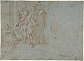 Classical Battle Scene; Verso- Peter and John Heal a Cripple at the Gate of the Temple MET DP801476.jpg