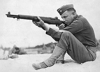 Claudius Miller Easley - General Easley practicing his marksmanship, 1939
