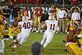 Clay Helton and Max Browne on sidelines at USC v Stanford 2013.jpg