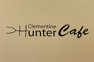Clementine Hunter - The cafe and snack bar at the Alexandria Museum of Art is named for Hunter.