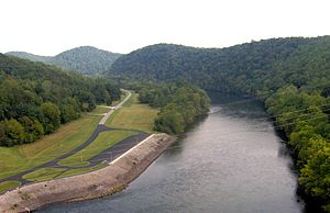 Norris Dam State Park - The Clinch River, downstream from Norris Dam