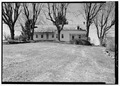 Closer view of east elevation - Roulette Farm, House, Sharpsburg, Washington County, MD HABS MD,22-ANTI.V,1-10.tif