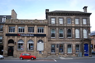 Clydesdale Bank - A former branch of Clydesdale Bank in Leith