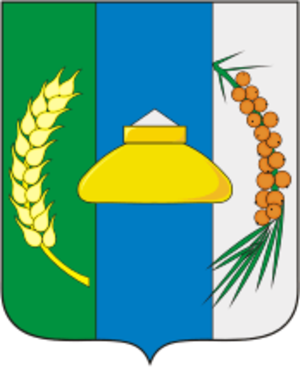 Novosibirsky District - Image: Coat of Arms of Novosibirsk rayon (Novosibirsk oblast)