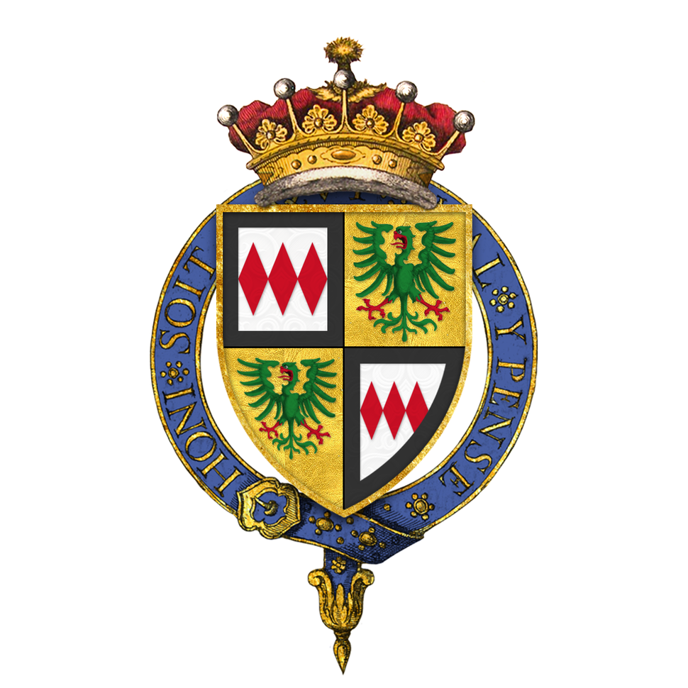 Coat of arms of Charles Montagu, 1st Earl of Halifax, KG, PC, PRS