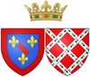 Coat of arms of Jeanne de Coësmes as Princess of Conti.png