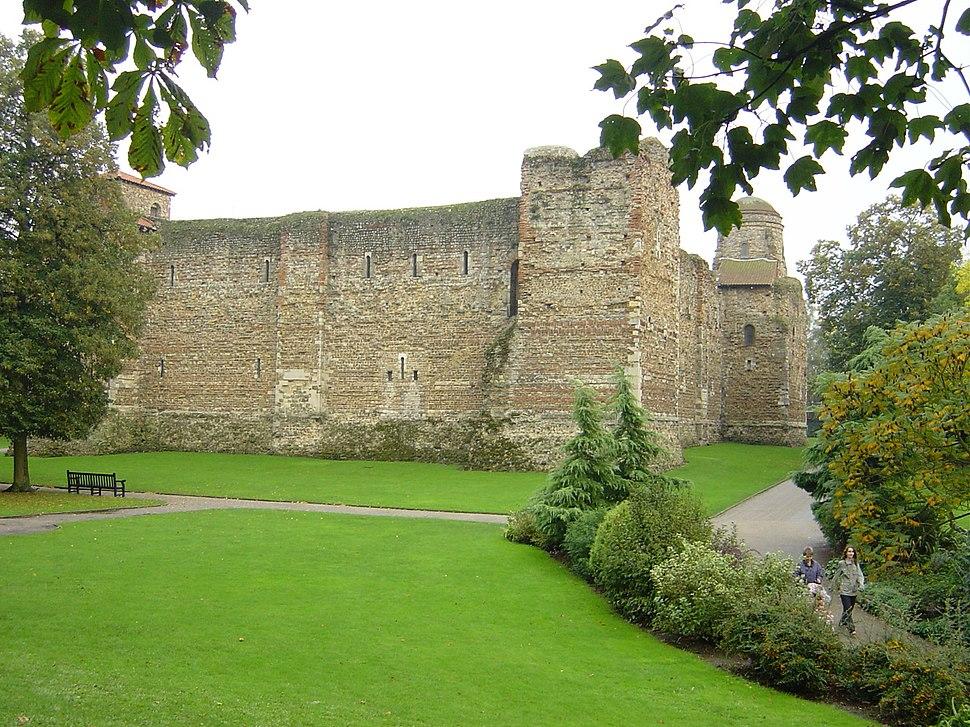 Colchester castle, rear side