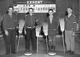 Cold Lake, Alberta - Cold Lake Curling Club School, 1955