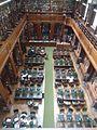 Colegio Nacional de Buenos Aires - Biblioteca, vista de las mesas desde el segundo piso.jpg