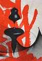 Colin Goldberg, New Plastic Shodo 5, 2013. Sumi ink, acrylic and pigment print on Kinwashi paper, 12.25 x 18.75.jpg