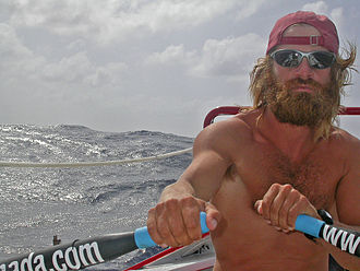 Colin Angus (explorer) - Colin rowing across the Atlantic Ocean