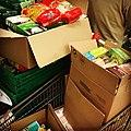 Collecte alimentaire de la banque alimentaire dans un supermarché Carrefour Market à Villeurbanne - 3.JPG