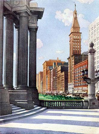 Michigan Avenue (Chicago) - 1921 Collier's Magazine Michigan Avenue from Grant Park