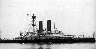 HMS Collingwood (1882) - Image: Collingwood NH61397