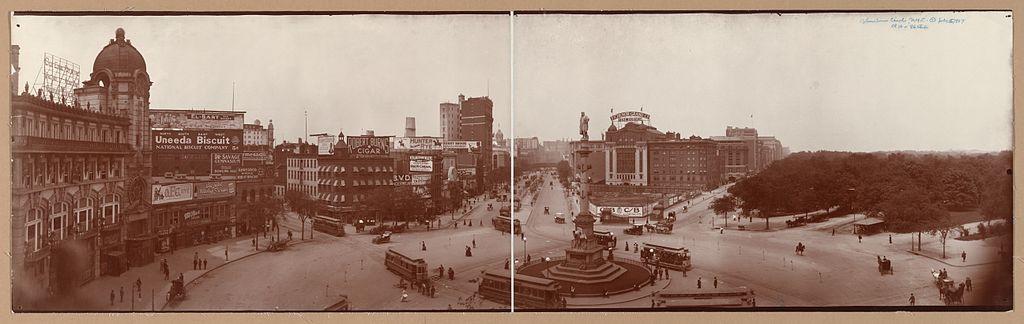 כיכר קולומבוס, שנת 1907 לערך
