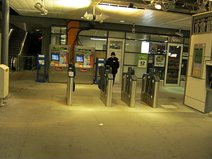 SkyTrain (Vancouver) - Compass faregates at Gilmore station