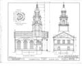 Congregational Church, Atwater, Portage County, OH HABS OHIO,67-ATWA,1- (sheet 3 of 5).png
