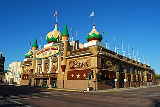 Corn Palace - Street view of the Corn Palace in Mitchell, South Dakota, in 2008