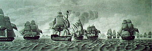 Cornwallis's Retreat - Second phase: the French attacking HMS Mars