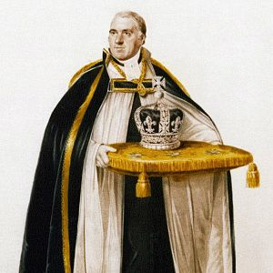 Coronation Crown of George IV - The Dean of Westminster carrying the crown