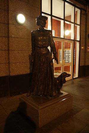 Constance Markievicz - Sculpture of Constance Markievicz at the Markievicz Leisure Centre, Dublin.