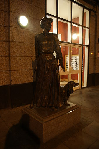 Sculpture of Constance Markievicz at the Markievicz Leisure Centre, Dublin Countessmdublin.JPG