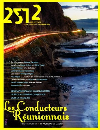 News media - Cover of 2512, a monthly newsmagazine published in Réunion.