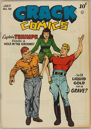 Captain Triumph - Image: Crack Comics 49, Cover