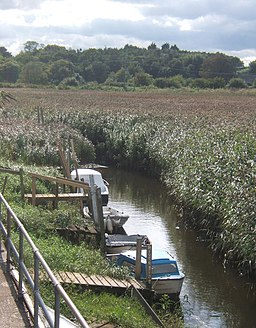 Creek with boats near Cley windmill - geograph.org.uk - 955273