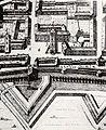 Crescentino – Piazza Vische e la sua torre (Theatrum Sabaudiae 1682).jpg