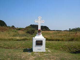 Bangor, Morbihan - A Monumental Cross