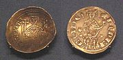 Cyprus gold bezant derived from Byzantine design 1218 1253 Cyprus Western style silver gros 1285 1324