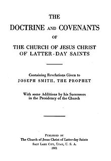 Title page of the 1921 LDS edition